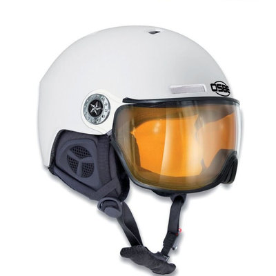 OSBE NEW LIGHT R SKIHELM - DULL WHITE - PHOTOCHROMIC VISIER CAT. 1-3  (☁/☀/❄)