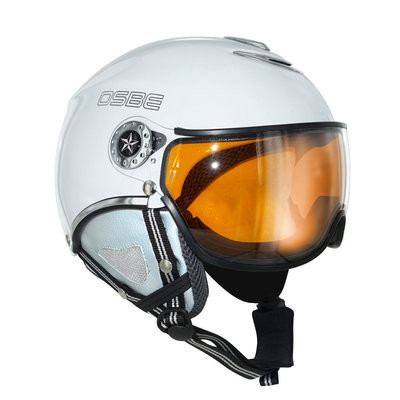 OSBE PROTON SNOW SKIHELM - SHINY WHITE - PHOTOCHROMIC VISIER CAT. 1-3 (☁/☀/❄)