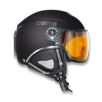 OSBE PROTON SNOW SKIHELM - DULL BLACK -PHOTOCHROMIC VISIER CAT. 1-3 (☁/☀/❄)