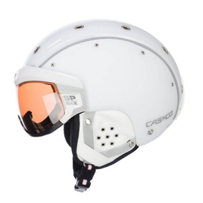 CASCO SP-6 SKIHELM - WEISS - PHOTOCHROM VAUTRON VISIER - CAT.1-3 (☁/☀/❄)