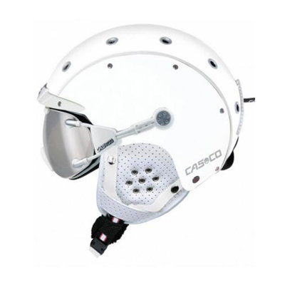 CASCO SP-3 AIRWOLF SKIHELM - WEISS - DAMEN & HERREN