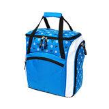 skischoenentas skhelm tas kinderen blauw-wit