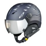Skihelm met vizier Evening Blue s.t Dl Vario Silver Mirror