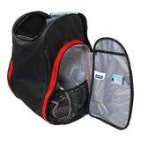skischoenen tas met helmvak zwart rood skihelmtas4