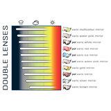 cp 30 skihelm vizier visor visier photochromic - photochrom - polarised - polarisiert