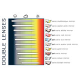 cp 13 skihelm vizier visor visier photochromic - photochrom - polarised - polarisiert
