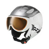 SLOKKER BALO SKIHELM MET VIZIER - SILVER - ORANGE PHOTOCHROMIC POLARIZED vizier (CATEGORIE 2) kopen