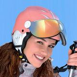 cp camulino skihelm met vizier kind extra veilig 4 skihelm kind-kinder skihelm - kinderskihelm