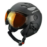 SLOKKER RAIDER SKIHELM - BLACK - ORANGE PHOTOCHROMIC POLARIZED VIZIER CAT.2 - (☀/☁)