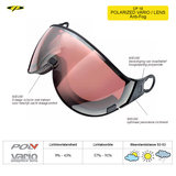 CP 10 Polarized Vario Lens Visor Camurai en Cuma S2-S3 CP10110