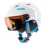 Uvex Junior Visor Skihelm met Vizier Wit-Turkoois