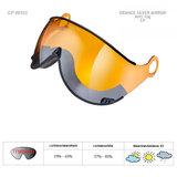 CP Orange Silver Mirror Visor Camurai en Cuma S2
