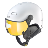 Snowboard helm met Vizier CP Carachillo_white-s.t._flashGold-mirror