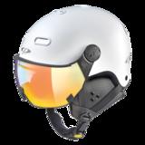 Snowboard helm met Vizier CP Carachillo_white-s.t._multicolour-mirror