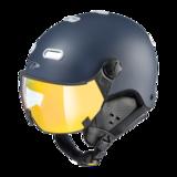 Snowboard helm met Vizier CP Carachillo - deep blue s.t. / white - flash gold mirror