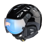 Helm Cuma black shiny Ice Mirror