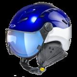 Helm Camurai blue vintage pearlwhite shin dl vario lens bl mirror