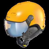 Snowboard helm met Vizier CP Carachillo pol vario - maize s.t. / maize - dl vario lens br pol ice mirror