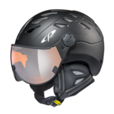 CP Cuma helmet black s.t./black s.t. orange silver mirro
