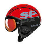 Casco SP6 SIX Visor Comp Red Black