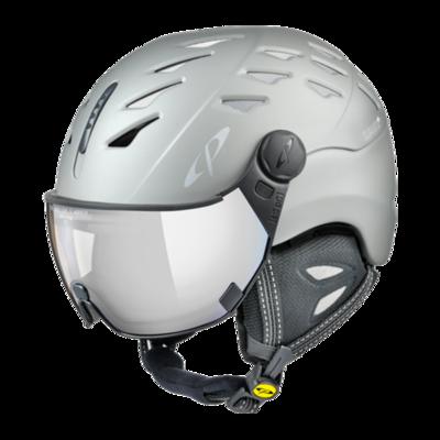 CP Helm mit Visier Grau - Cuma - Photochrom/Verspiegelt ☁/❄/☀