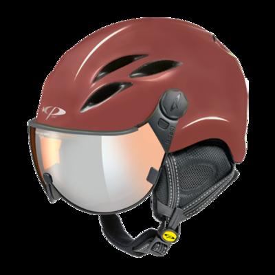 CP Helme mit Visier Curako - Rot - Verspiegelt ☁/❄/☀