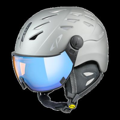 CP Helm mit Visier Grau - Cuma -  - Photochrom/Polarisiert/Verspiegelt ☁/❄/☀