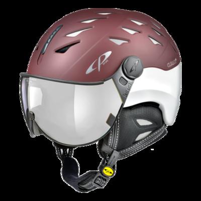CP Helm mit Visier Rot Weiss - Cuma - Verspiegelt ☁/❄/☀