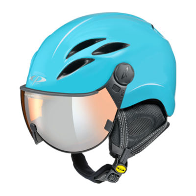CP Helme mit Visier Blau - Curako - Verspiegelt ☁/❄/☀
