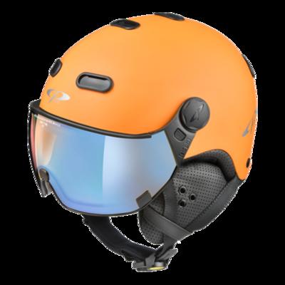 CP Helme mit Visier Orange Schwarz - Carachillo - Photochrom Polarisiert Verspiegelt ❄/☁/☀