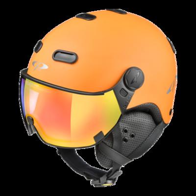 CP Helme mit Visier Orange Schwarz - Carachillo - Photochrom Verspiegelt ❄/☁/☀