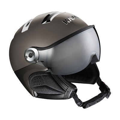 Kask Chrome Platinum Skihelm mit Visier Grau - Silver Mirror Visier (☀/☁) Cat.2