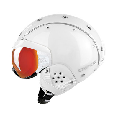 Skihelm Weiss - Casco SP-6 Visier -  - Photochrom vautron Vizier - cat.1-3(☁/❄)