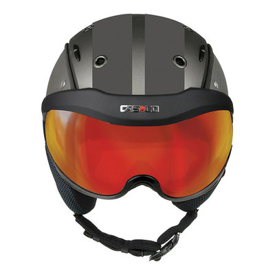 Skihelm Grau - Casco SP-6 SIX Visier - Photochrom vautron Vizier - cat.1-3(☁/❄)