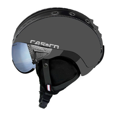 Skihelm Grau - Casco SP-2 Vizier -  Polarised cat.1-3(☁/❄)