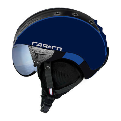 Skihelm Blau Schwarz  - Casco SP-2 Vizier -  Polarised cat.1-3(☁/❄)
