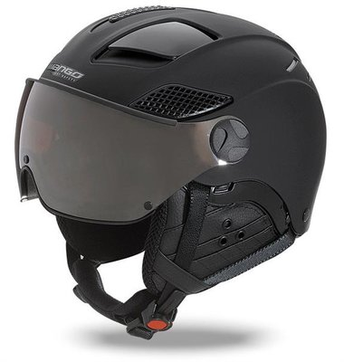 Skihelm Mango quota free - total black mat - photochrom & polarisiert cat. 2 (☁/❄/☀)