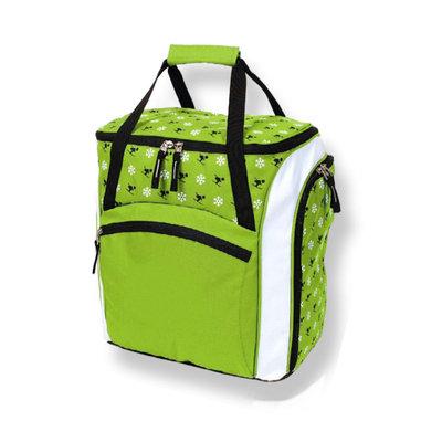Skihelm & Skischuhe Tasche Kinder grun-weiss