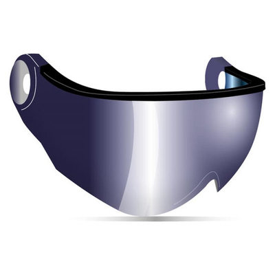 Kask Ersatz Visier Skihelm - Iridium Mirror Cat.2 - (☀/☁) - Piuma R Visier