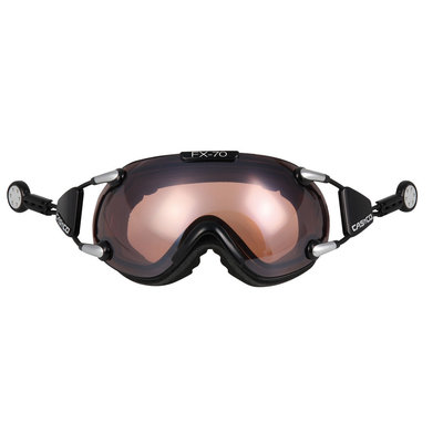 CASCO FX-70 VAUTRON SKIBRILLE - SCHWARZ - PHOTOCHROMIC POLARIZED CAT. 1-3 - (☁/☀/❄)