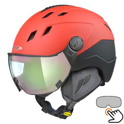CP Corao+ Skihelm rot - photochrom Visier (4 Optionen) - sehr sicher