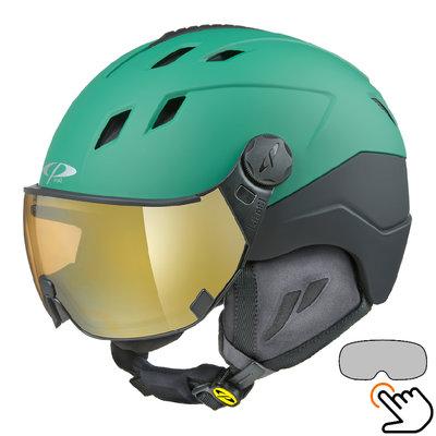 CP Corao+ Skihelm grün - photochrom Visier (4 Optionen) - sehr sicher