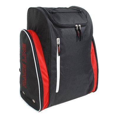 Genialer Skischuhtasche & Skihelmtasche in einem schwarz-rot