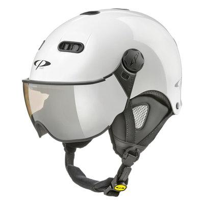 CP Carachillo XS skihelm weiss glänzend - skihelm mit spiegel visier (☁/❄/☀)