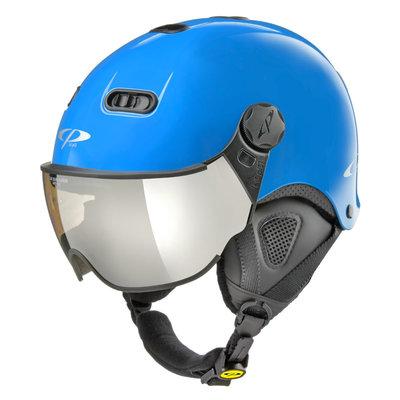 CP Carachillo XS skihelm blau glänzend - skihelm mit spiegel visier (☁/❄/☀)