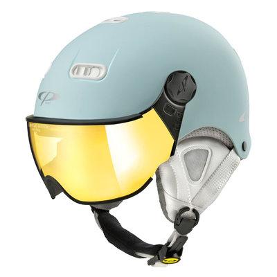 CP Carachillo XS skihelm lichtblau matt - helm mit spiegel visier (☁/☀)