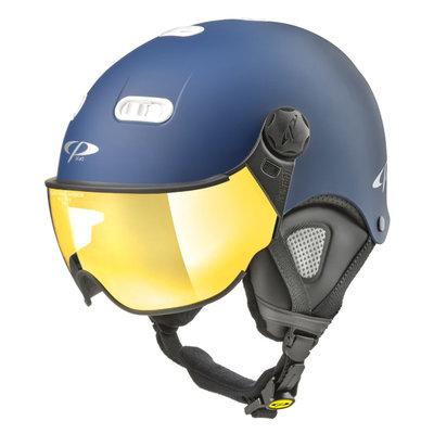 CP Carachillo XS skihelm blau matt - helm mit spiegel visier (☁/☀)