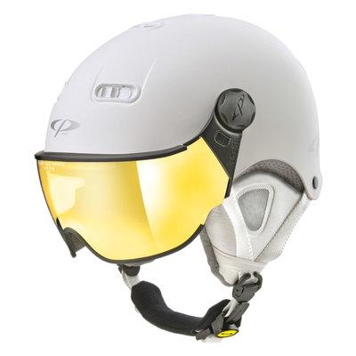 CP Carachillo XS skihelm weiss matt - helm mit spiegel visier (☁/☀)