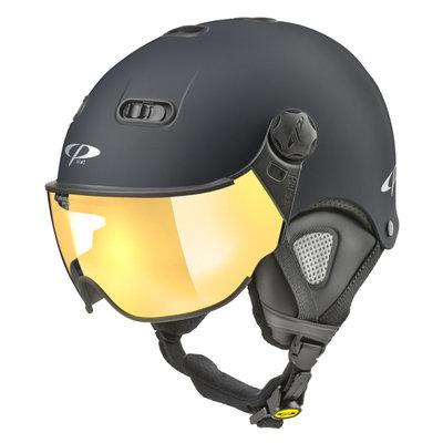 CP Carachillo XS skihelm black matt - helm mit spiegel visier (☁/☀)
