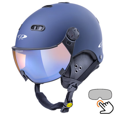 CP Carachillo blau skihelm - photochrom & polarisiert Visier (3 Optionen)